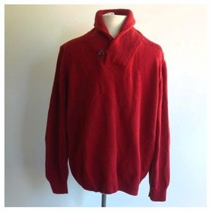 Concrete Casual Men's Size XL Red Wool Sweater